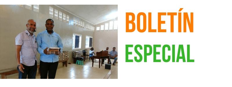 EDITORIAL CLIE BENDICE A GUINEA ECUATORIAL CON UN DONATIVO BIBLIOGRÁFICO
