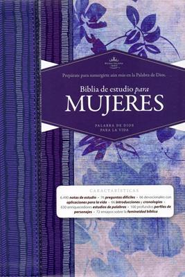 Biblia De Estudio Para Mujeres -Azul Floreado: Reina