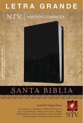 Biblia compacta letra grande negro onice (Piel) [Biblia]