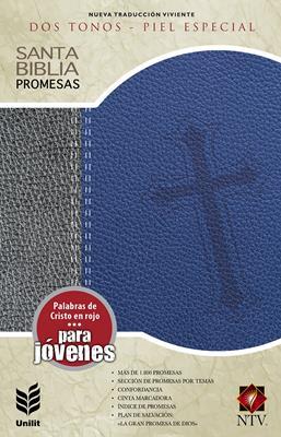 Biblia de promesas para jóvenes (Piel) [Biblia]
