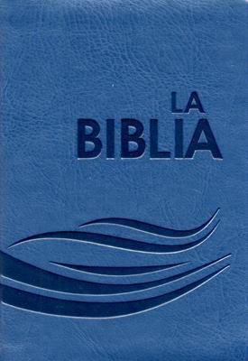 Biblia flexible azul petroleo con cierre