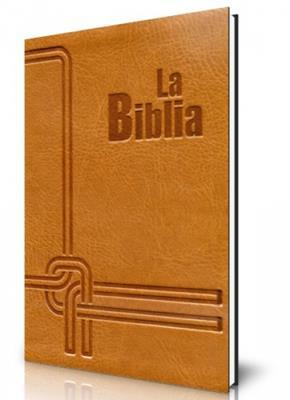 Biblia flexible miel dorado con cierre (flexible)