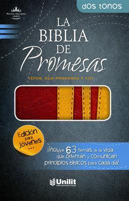 Biblia de promesas - Rojo, amarillo (Piel) [Biblia]