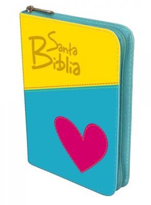Biblia manual troquelada amarilla corazón