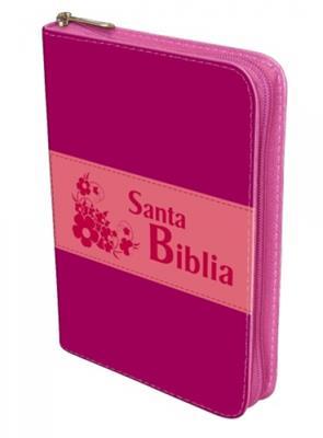 Biblia Manual Troquelada Rosada