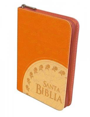 Biblia Manual Cosida Naranja