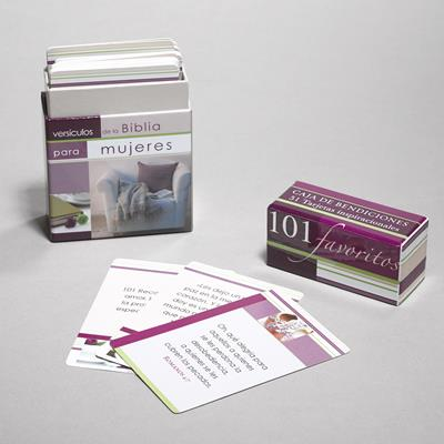 101 Versiculos Favoritos Para Mujeres (Caja cartón)