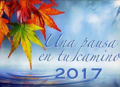 Calendario una pausa en tu camino 2017