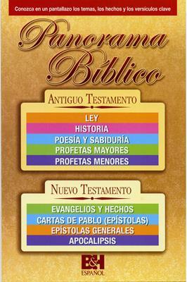Panorama Bíblico: Antiguo  y Nuevo Testamento (Plastificada) [Folleto]