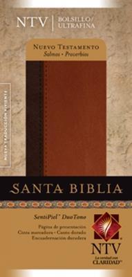 Nuevo Testamento/NTV- Con Salmos Y Proverbios (Piel elaborada Dos Tonos) [Bíblia]