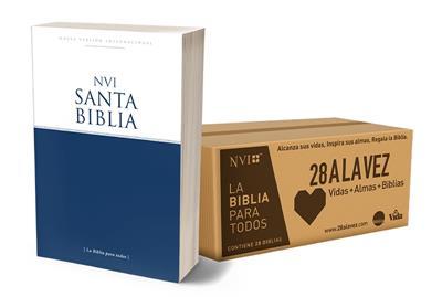 Caja de Biblias misioneras NVI - 28 A la vez (Cartón) [Caja de Biblias]