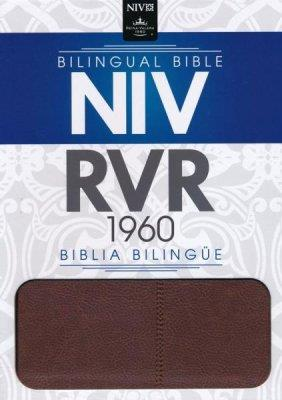 Biblia Bilingue - Marron (Piel Italiana)