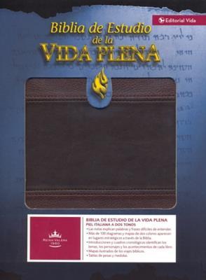 Biblia De Estudio/RVR/Vida Plena/Marron-Marrón (Imitación Piel)
