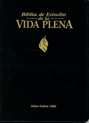 Biblia de Estudio Vida Plena Negra (Imitación Piel) [Biblia]