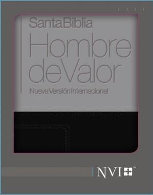 Biblia/NVI/Hombre De Valor/Piel/Gris-Negro (Piel Italiana) [Biblia]