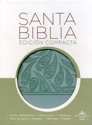 Biblia compacta aguamarina (Piel) [Biblia]