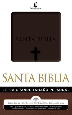 Biblia Tamaño Personal Imitación Piel Cafe Cruz
