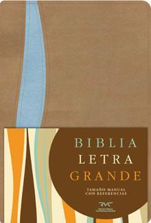 Biblia Letra Grande Manual / Beige-Azul (Imitación Piel) [Biblia]