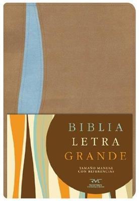 Biblia Letra Grande Manual Imitación Piel Indice Beige Azul (Imitación Piel) [Biblia]