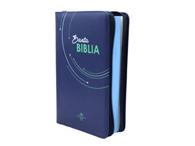 Biblia Economica Letra Grande Azul Oscuro (Piel) [Biblia]