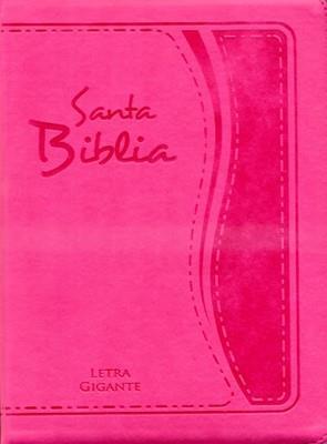 Biblia Tamaño85 CZTILGi - Letra Gigante Con Indice - Fucsia (imitación piel) [Biblia]