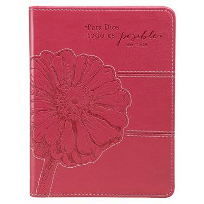 Diario Para Dios Todo Es Posible/Simil Cuero/Rosado (Imitación Piel )