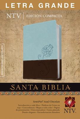 Biblia Edición Compacta  Letra grande Azul-Chocolate