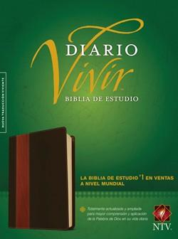 Biblia De Estudio Diario Vivir - Cafe Claro (Imitacion Piel )