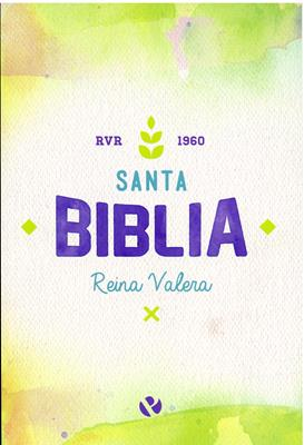 Biblia Edición Popular Acuarela-Violeta (Rústica) [Biblia]