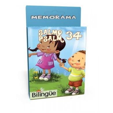 Salmo 34 /Memorama/Bilingue (Cartón) [Juego]
