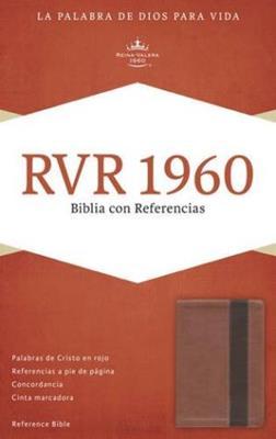 Biblia Referencias Imitación Piel Naranja Café