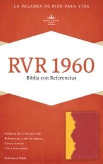 Biblia - Amarillo Rojo Ladrillo (Imitacion Piel )