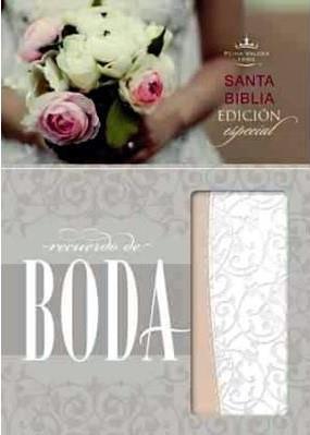 Biblia Compacta Recuerdo Boda Imitación Piel Filigrana Blanca Palo Rosa (Imitación Piel) [Biblia]