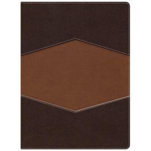Biblia De Estudio/Holman/RVR1960/Indice/Piel/Siena Oscuro Arena Simil (Simil piel chocolate/terracota ) [Biblia de Estudio]