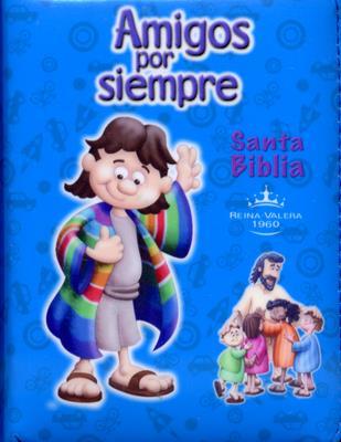 Biblia Amigos Por Siempre Forrada Azul (Acolchada)