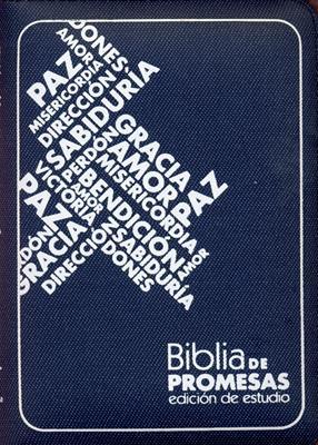 Biblia Estudio Promesas Azul tamaño 045