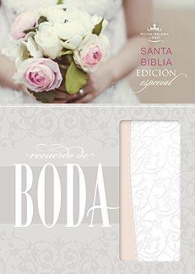 Biblia Recuerdo Boda Blanca Rosa