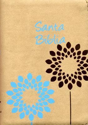 Biblia Bolsillo Con Cierre -  Beige (Piel)