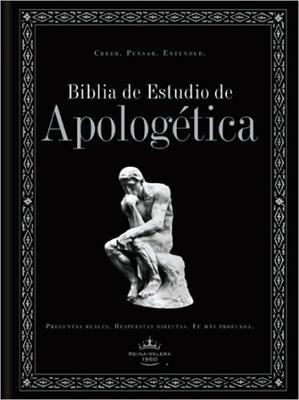 Biblia De Estudio Apologetica/RVR/Piel Fabricada/Negro (Imitación piel )