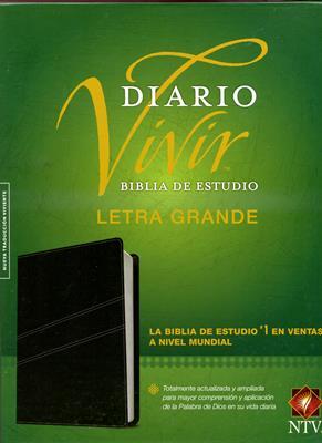 Biblia De Estudio Diario Vivir NTV - Letra Grande / Negro (Imitación Piel) [Biblia]