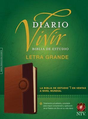 Biblia De Estudio Diario Vivir - Letra Grande / Cafe - Índice (Imitación piel) [Biblia]