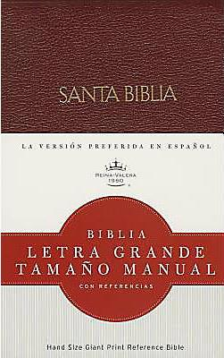 Biblia/RVR/Letra Grande/Manual/Referencias/Piel Fabricada/Rojizo Con Indice (Imitación Piel )