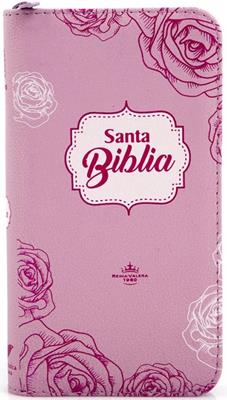 Biblia Tamaño 035 Rosada Flores