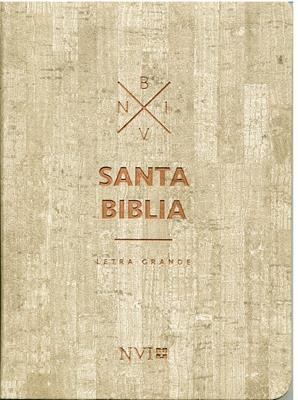 Biblia NVI Mediana Letra Grande Madera (Imitación Piel) [Biblia]