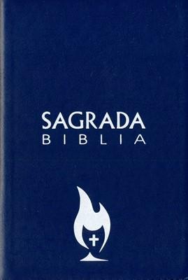 Biblia Con Cierre Piel Azul