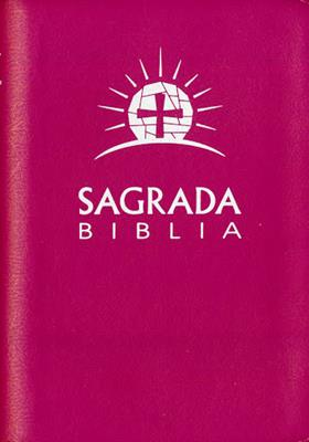 Biblia Con Cierre Piel Rosada