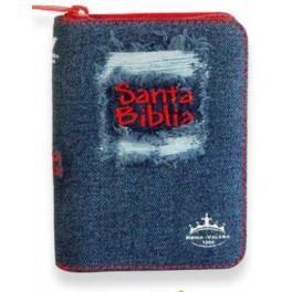 Biblia Tamaño 025 Jean Desgaste Roja (Tipo Jean) [Biblia]