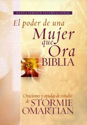 Biblia Poder Mujer Ora Piel Elaborada Rosada (Tapa dura )