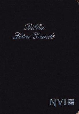 Biblia NVI Letra Grande Negra (Rústica) [Biblia]