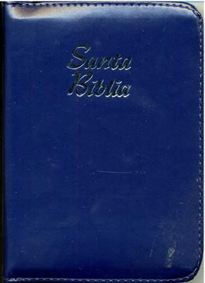Biblia Tamaño 025ZTILG Concordancia Indice Azul (imitación piel(percalina)) [Biblia]